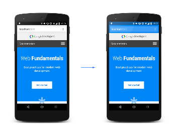 """Once the site is marked as a """"Progressive Web App"""" a new tab will be displayed""""Manifest"""". This allows the developer to change the default values."""