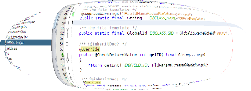 """Overview How that JDK6 support has been dropped after Java 1.6 reached EOL in February 2013. The new COIN Java 7 language features have been added to the code generator. See an example of the generated Java code for SiteScriptModulehere Annotations @CheckReturnValue added to all """"get"""" & """"is"""" generated methods @NotNull added to all generated return values known not to return a null value or when the parameter must not be null. Diamond Operator The diamond Operator is used to reduced theverbosity..."""