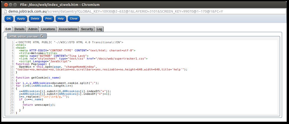 Raw HTML mode