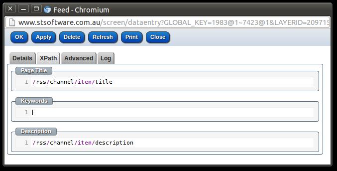 XPath editor