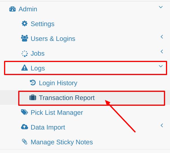 Transactions Tab
