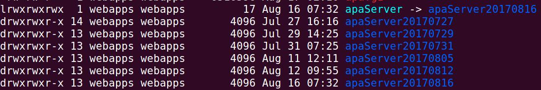 List of servers