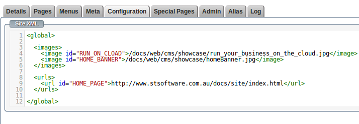 Site Configuration XML